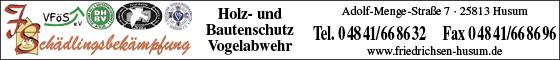 Schädlingsbekämpfung Friedrichsen, Husum